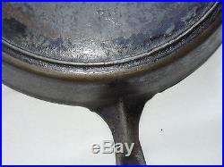 Griswold No. 12 Large Fry Pan with Ghost Mark Erie Logo Cast Iron Skillet 719