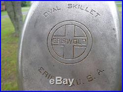 Griswold No. 13 LARGE LOGO Oval Skillet CAST IRON #1012 Very Rare