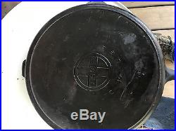 Griswold No. 14 Large Block Logo Cat Iron Skillet Pn 718 A