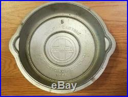 Griswold No. 5 High Dome Button Logo Skillet Cover, Lid. Du-Chro plated