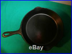 Griswold No. 9 Large Slant Logo Cast Iron Skillet With Heat Ring Cleaned