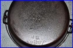 Griswold Pre Logo Erie 835 #10 Cast Iron Dutch Oven
