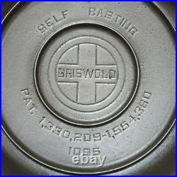 Griswold Restored #5 High Dome Skillet Lid 1095 Excellent