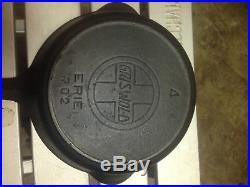 Griswold Slant logo Erie #4 cast iron skillet