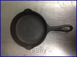 Griswold Wagner Ware lot of 6 cast iron skillets Misspelled Square Egg Skillet