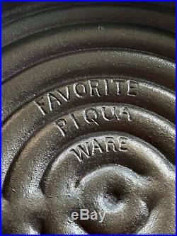 HTF Favorite Piqua Ware Broiler Cast Iron Skillet