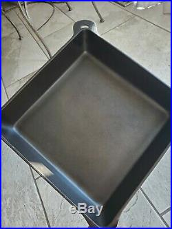 HTF GRISWOLD #768 Cast Iron Square Utility Skillet with Original IRON Lid