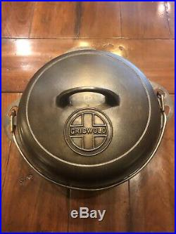 HTF! Griswold #7 Tite Top Dutch Oven. Top Logo. With Trivet, Super Nice