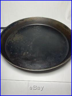 HTF HUGE No 20 Griswold Cast Iron Skillet Iron Frying Pan Heat Ring LARGE BLOCK