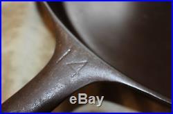 HUGE #14 GRISWOLD #718 CAST IRON SKILLET PAN NO CRACKED HANDLE