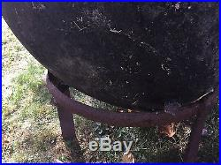 Huge Cast Iron Kettle Pot Cookware Cauldron 3 Leg
