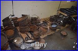 HUGE Lot 597 Antique Griswold Cast Iron Skillets etc. + 250+ Wagner Puritan etc