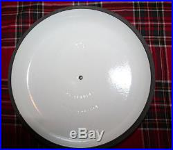 HUGE NEW Le Creuset 12 Cast Iron #30 White Enamel Oven Stovetop Braising Pan