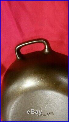 Hard to Find Griswold Erie, PA no 15 Oval Skillet also known as the Fish Pan