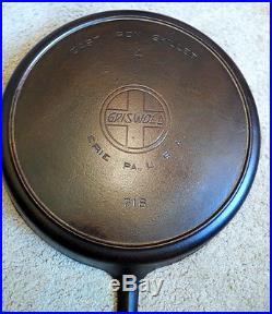 Hard to Find Very Large Old Griswold #14 Cast Iron Skillet Slant Logo