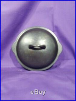 Htf Rare #3 Griswold Erie Cast Iron Skillet Cover LID Low Dome Smooth Top #463