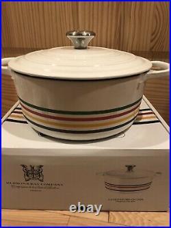 Hudson's Bay 5.5 Qt #26 LE CREUSET Signature Dutch Oven Stripes Limited Edition