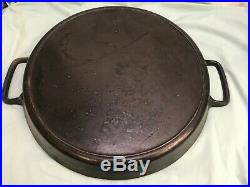 Huge Vintage 20 Double Handled Cast Iron Skillet-great Condition-griswold Era