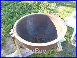 Huge Vintage Antique Cast Iron Flower Pot Cauldron Foundry Kettle 1880's 80 Gal