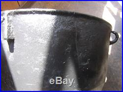 Huge Vintage Cast Iron 20 Gallon Footed Kettle Cauldron Pot