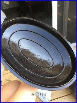 Huge Vintage Wagner Cast Iron Oval Roaster 1287 Dutch Oven With Lid Basting Rare
