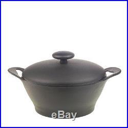 IWACHU Cast Iron Cookware Dutch Oven Camp Tent Pot Grill Pit 2.1 Quart Cooking