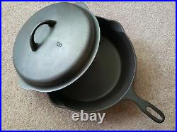 Iron Mountain/Griswold #8 Chicken Fryer withLid #1034 & 1035