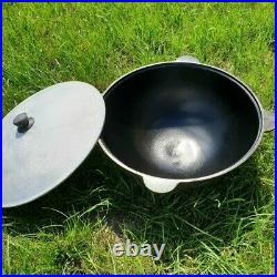 Kazan New Tempered Durable Uzbek Cast Iron Cauldron 16L+Skimmer as a gift