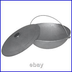 Kazan Uzbek Mangal 12L Tatar Dish Plov Cookware Cast Iron Pan Cooking Pot