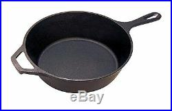 Kitchen Pre-Seasoned Cast Iron 2-In-1 Combo Cooker Frying Pan Oven Safe Cookware