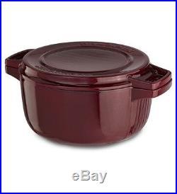 KitchenAid Cast Iron Professional Cookware KCPI60CRRR Royal Red 6-Qt Casserole