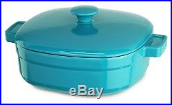 KitchenAid Cast Iron Streamline Cookware KCLI60CRCC Curacao Blue 6-Qt Casserole