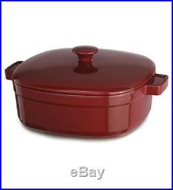 KitchenAid Cast Iron Streamline Cookware KCLI60CRER Empire Red 6-Quart Casserole