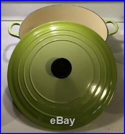 Kiwi 6.75 Qt Wide Risotto #30 LE CREUSET Dutch Oven EUC Vert Fruit Lime Green