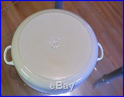 LARGE #30 Le Creuset Cast-Iron Round French (Dutch) Oven White