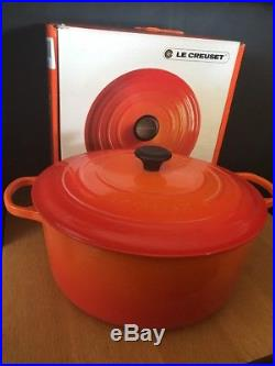 LE CREUSET 13.25 QT #34 Round Dutch Oven Flame Orange NEW in Box