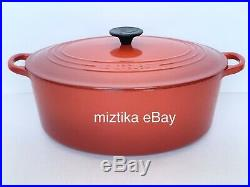 LE CREUSET #31 Oval Dutch Oven Enameled Cast Iron 6.75 QT Red Color NWT