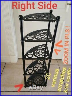 LE CREUSET 5-TIER POT STAND or RACK Matte Black Color
