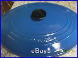 LE CREUSET 7.25 QT Oval Cast Iron Dutch Oven Cobalt Blue No box
