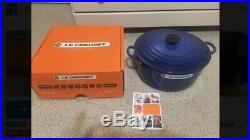 LE CREUSET 7.25QT Round Dutch Oven Cobalt Blue NEW In Box 1st Quality