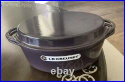 LE CREUSET CASSIS 4.75 CAST IRON OVAL MULTI FUNCTION DUTCH OVEN With GRILL LID