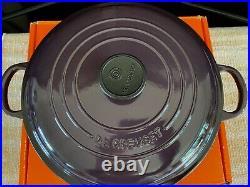 LE CREUSET CASSIS CAST IRON ROUND BRAISER 2 1/4 QT NEWith BOX