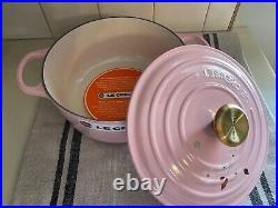 LE CREUSET CAST IRON CHIFFON PINK SAKURA POT CASSEROLE 2.75 QT. NEWithBOX
