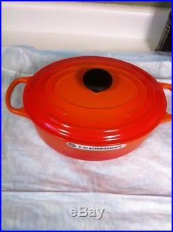 LE CREUSET CAST IRON OVAL # 29 5 QT. Volcanique Flame Orange NEW Dutch Oven
