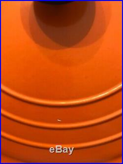 LE CREUSET Enamel Cast Iron Round 9 Qt Orange Dutch Oven