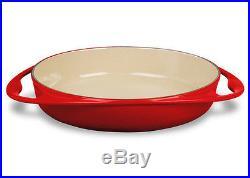 LE CREUSET Enameled Cast Iron 9-3/4 inch Tarte Tatin Dish, New