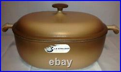 LE CREUSET Enzo Mari La Mama #33 Cast Iron Dutch Oven Brown Rare 8 Qt. Vintage