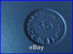 LE CREUSET Raymond Loewy LA COQUELLE 3.5Qt Vintage STUNNING JET BLACK