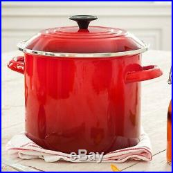 LE CREUSET Signature Cast Iron 16-piece Cookware Set in Color Cherry Red. New