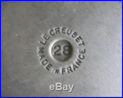 LE CREUSET White Enamel Cast Iron 7.25 quart DUTCH OVEN (#28) France
